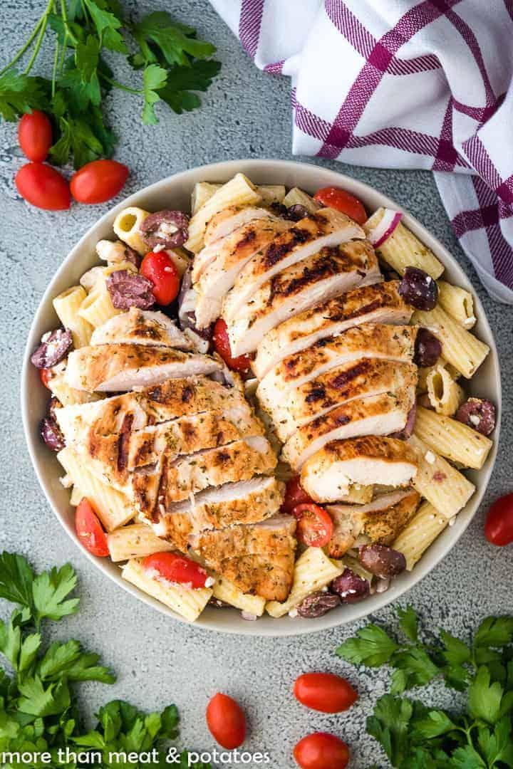 Greek Chicken Pasta Salad 3 Greek Chicken Pasta Salad Recipe