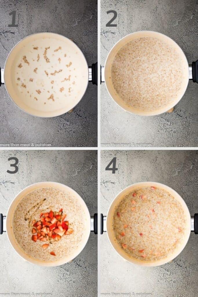 A collage of photos showing all the recipe steps.