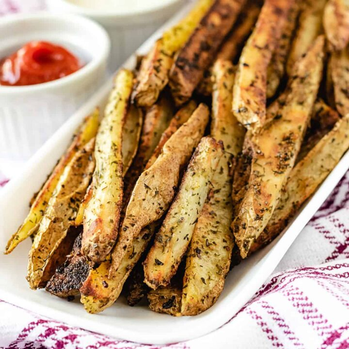 Oven Baked French Fries Featured Image Lemon Couscous Salad Recipe