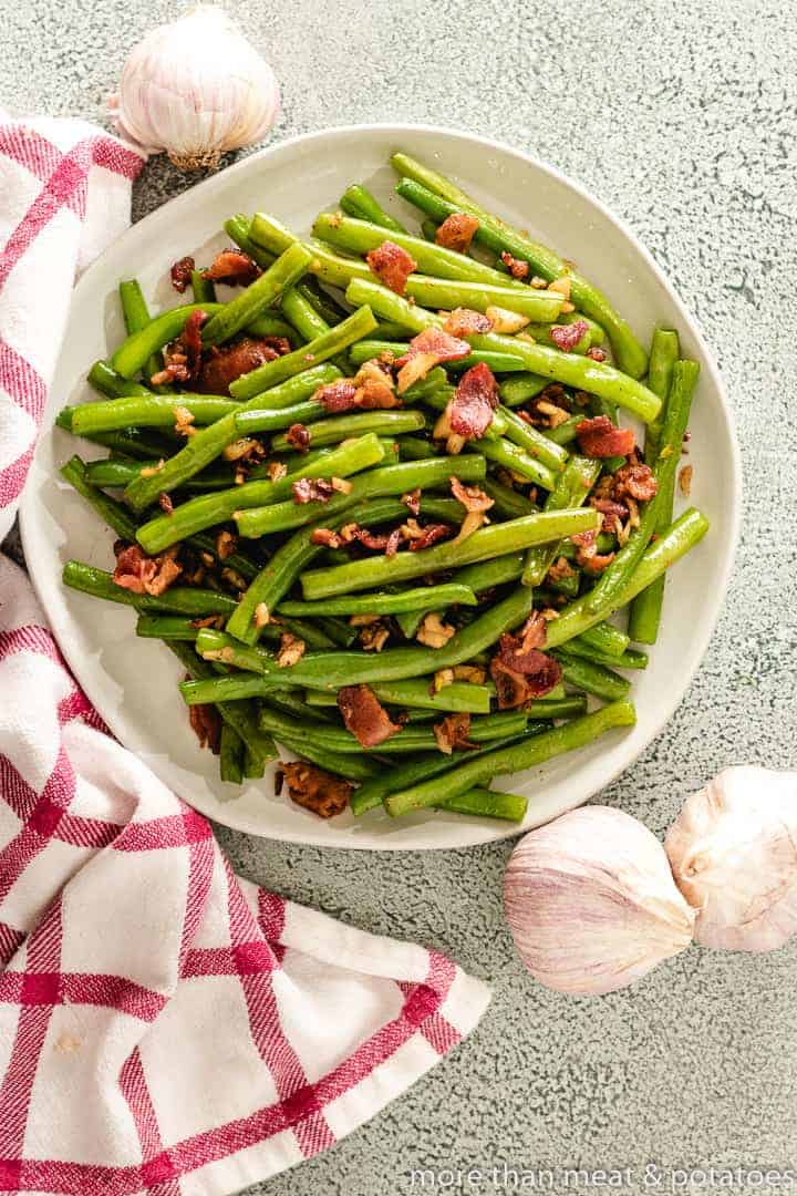 Sauteed Green Beans 8 Sauteed Green Beans with Bacon