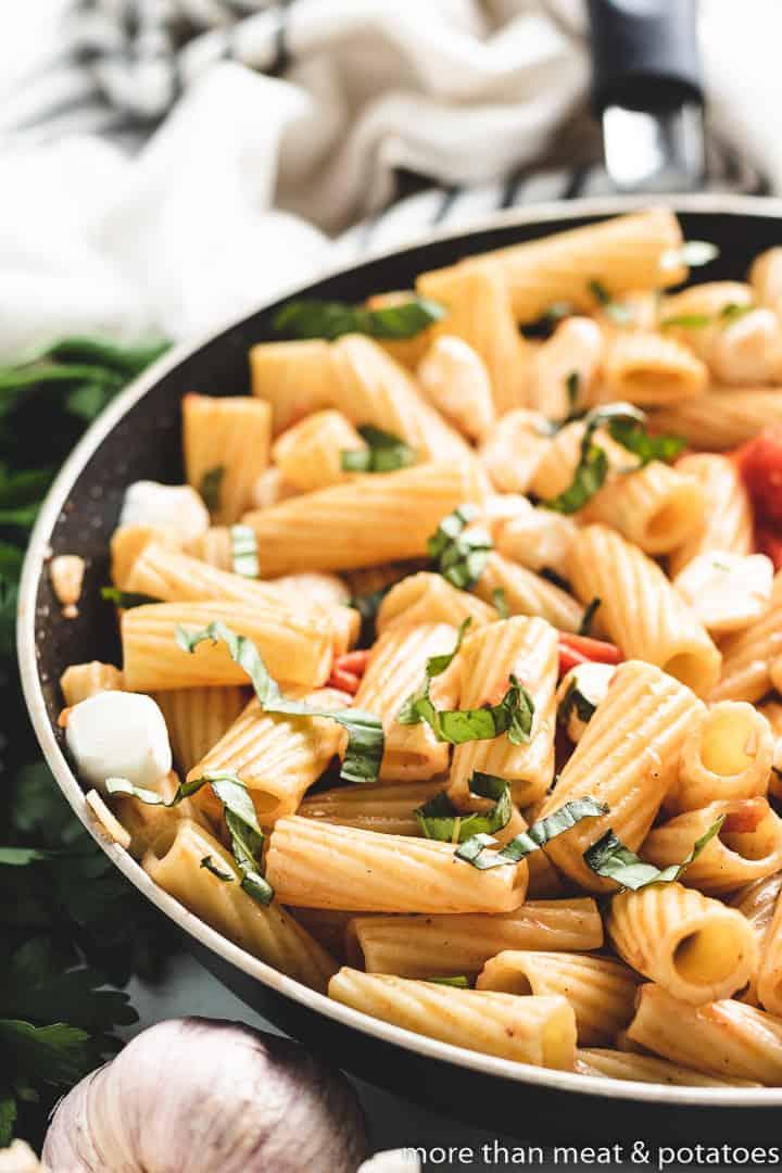 Caprese Pasta 7 Rigatoni Caprese Pasta