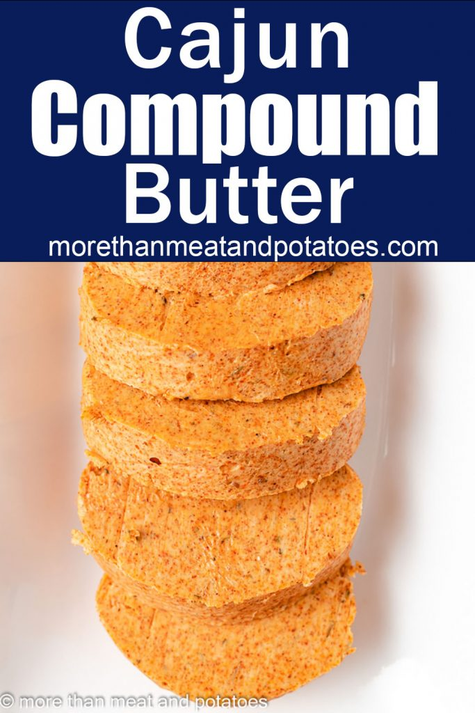 Top down view of pieces of compound butter.
