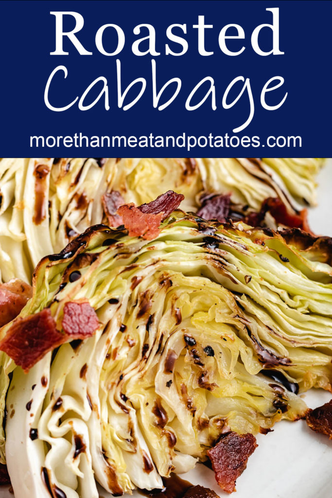 Roasted cabbage wedges with bacon crumbles