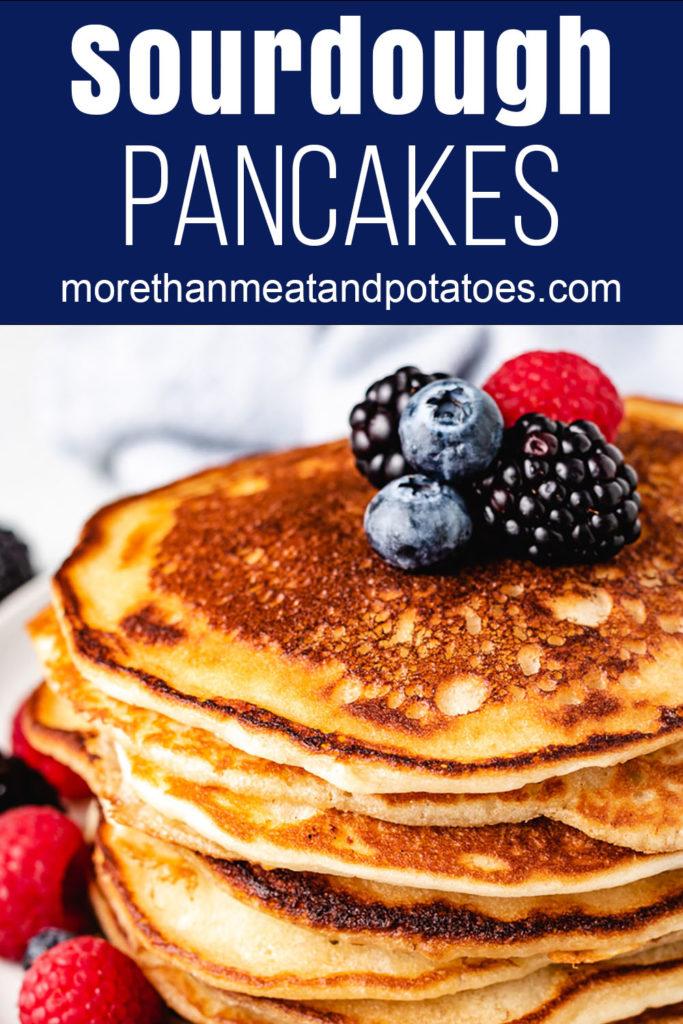 Fresh berries on top of pancakes.