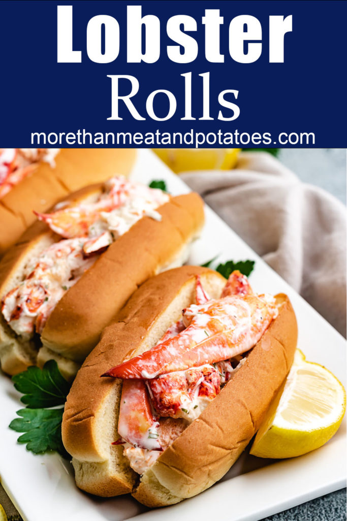 Lobster roll sandwich with fresh lemon.