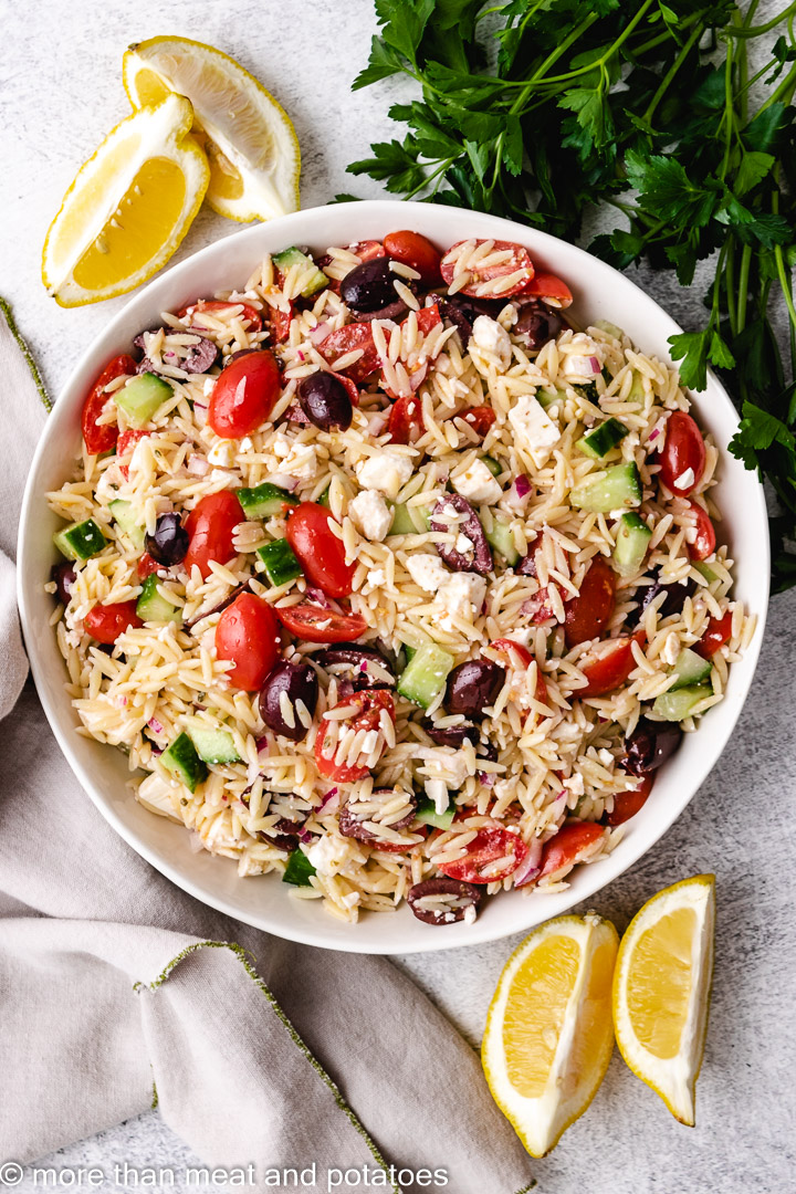 Greek Orzo Salad 6 Greek Orzo Salad