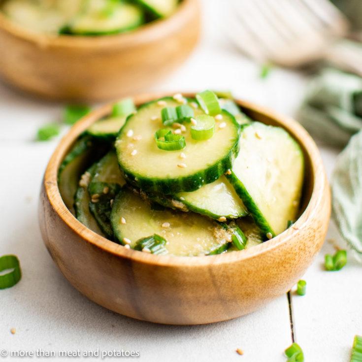 Cucumber salad featured image easy cucumber salad