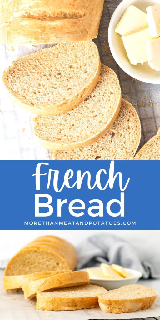 Collage showing to different photos of french bread.