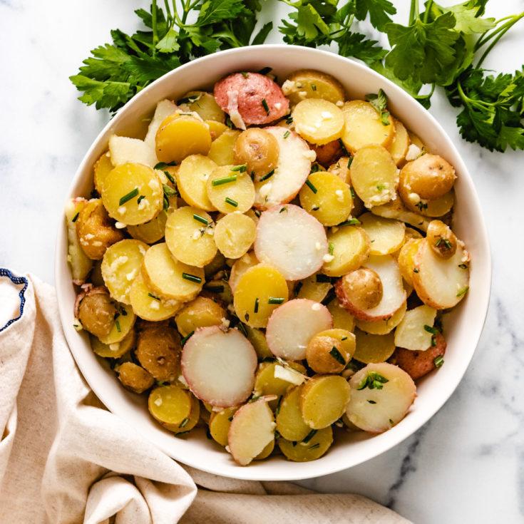 French potato salad featured image french potato salad