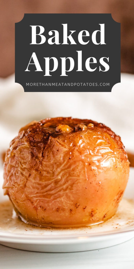 Whole baked apple with walnuts and brown sugar.