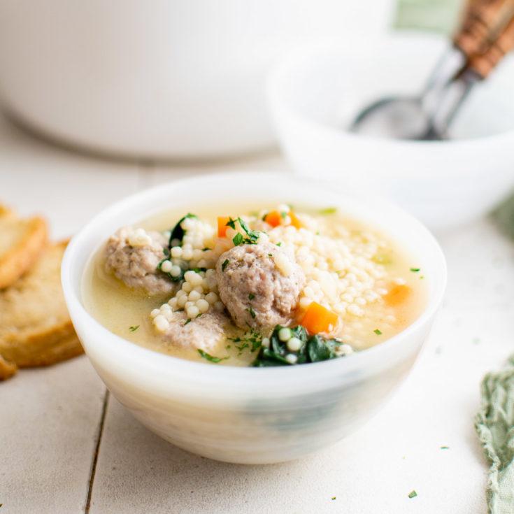 Italian wedding soup featured image italian wedding soup